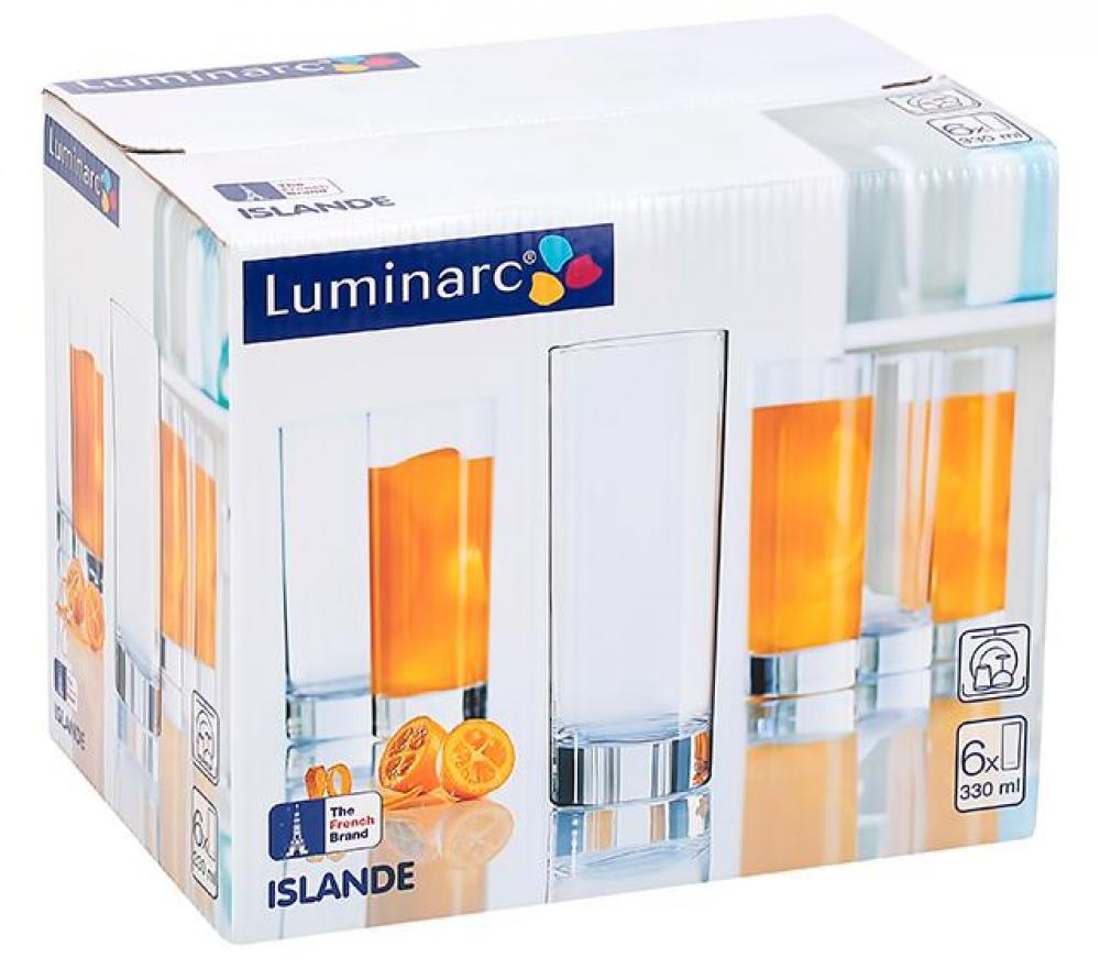 ISLANDE joogiklaasid 330ml 6tk, Luminarc